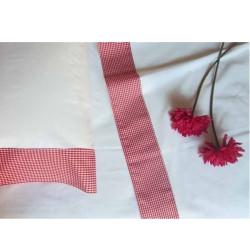 Juego de sábanas 3 pzs  Básicos Vichy o Rayas Largo Especial Textil Bages
