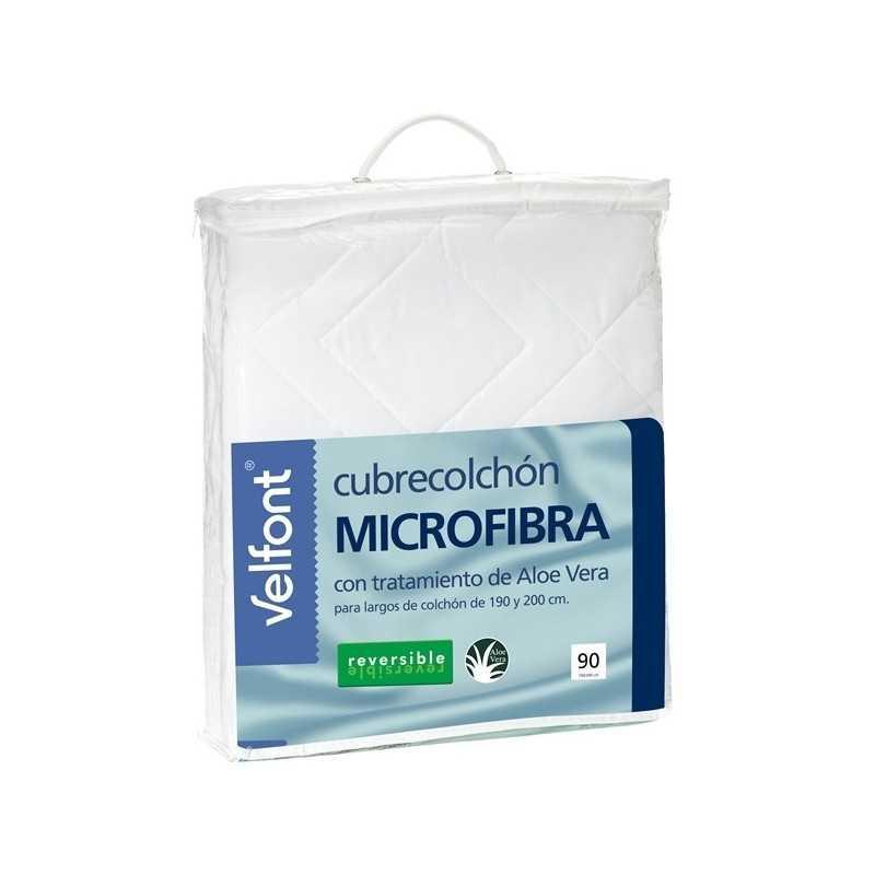 Cubrecolchón Velfont Microfibra Aloe Vera Reversible