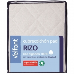 Cubrecolchón Velfont Pad Rizo Impermeable