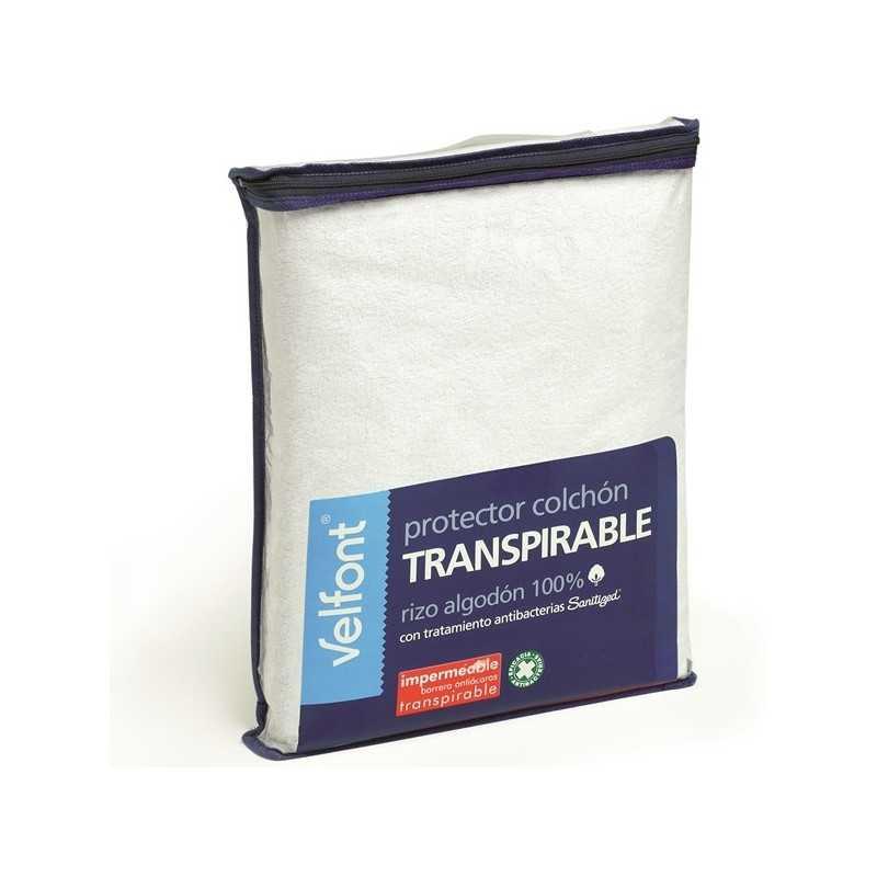 Protector colchón Velfont Rizo Transpirable e Impermeable