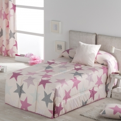 e4dredon confort confecciones paula estrellas rosa