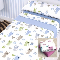 Juegos de sábanas Miau Textil As Burgas
