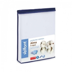 Protector colchón Velfont Alma 3 capas Impermeable y Transpirable