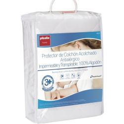 Protector Acolchado Impermeable Transpirable 100% algodón Pikolin