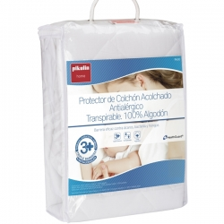 Protector Acolchado Antialérgico Transpirable 100% algodón Pikolin