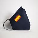 Mascarilla higiénica reutilizable Bandera España Adulto UNE 0065 Pack 4 ud