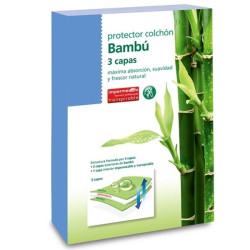 Protector colchón largo especial 550980 Bambú 3 capas Impermeable