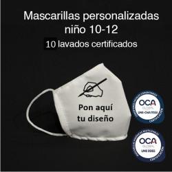 Mascarillas higiénicas reutilizables personalizadas UNE 0065