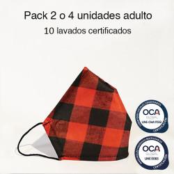 Mascarilla higiénica reutilizable Cachirulo Adulto UNE 0065 Pack 4 ud
