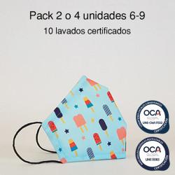 Mascarilla higiénica reutilizable Polo Infantil UNE 0065 y CWA 17553 Pack 2 o 4 ud