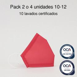 Mascarilla higiénica reutilizable Coral Infantil UNE 0065 y CWA 17553  Pack 2 o 4 ud