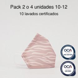 Mascarilla higiénica reutilizable Cebra Infantil UNE 0065 y CWA 17553  Pack 2 o 4 ud