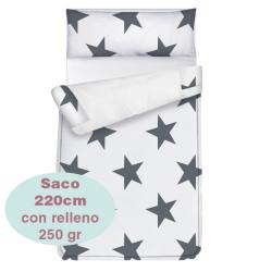 Saco ajustable 250 gr Estrellas largo 220 cm