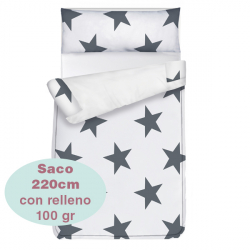 Saco ajustable 100 gr Estrellas largo 220 cm