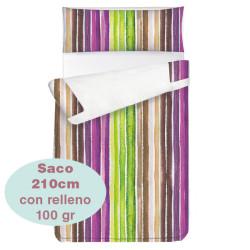 Saco ajustable 100 gr Stripes largo 210 cm