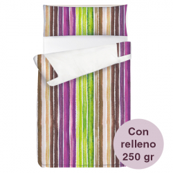 Saco ajustable 250 gr Stripes largo 190/200