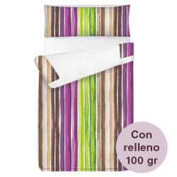 Saco ajustable 100 gr Stripes largo 190/200