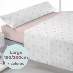 Juego sábanas coralina Jawa largo 190/200 cm