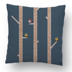 Cojín Ana Oncina pájaros 50x50 cm