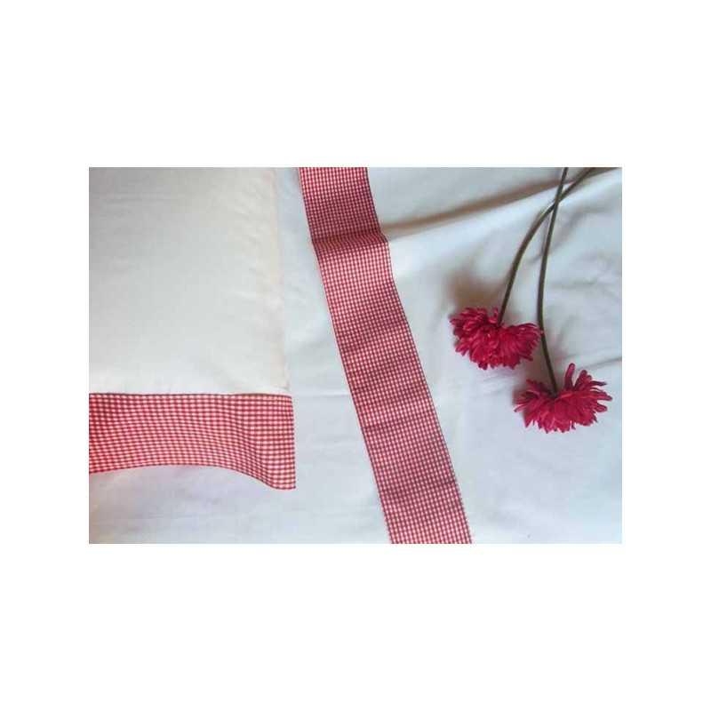 Juego de sábanas largo especial 3 piezas vichy o rayas
