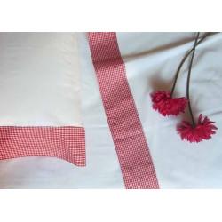 Juego de sábanas largo especial 2 piezas vichy o rayas