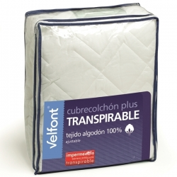 Cubrecolchón Velfont Plus Impermeable y Transpirable