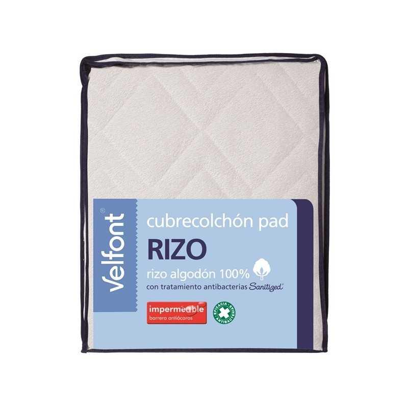 Cubrecolchón largo especial Pad Rizo Impermeable Velfont